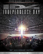 Independence Day (Blu-ray Disc, 2016, 2-Disc Set,20th Anniversary) Free Ship