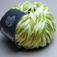 Lana Grossa Bicolore 010 green glow mix 50g Wolle (13.90 EUR pro 100 g)