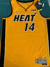 TYLER HERRO NIKE HEAT TROPHY GOLD JERSEY LARGE NUMBERED LIMITED EDITION