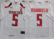NEW Mens Texas Tech Red Raiders White #5 MAHOMES II Football Custom Jersey