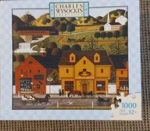 BNIB Charles Wysocki Pinch Penny Square 2007 1000 Pc Puzzle Milton Bradley