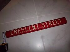 1958 BROOKLYN RED ROLL SIGN NY CROSSTOWN DEPOT CRESCENT STREET NYC BUS SIGN
