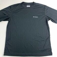 Columbia Omni-Wick Athletic T Shirt Mens L/G Black Logo Short Sleeve Crew Neck