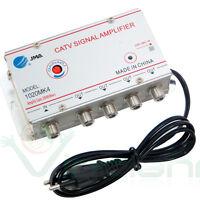 Amplificatore segnale antenna TV DIGITALE TERRESTRE via cavo 4 USCITE +20dB