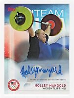 Topps USA Olympic Team Authentic Autograph Holley Mangold Weightlifting