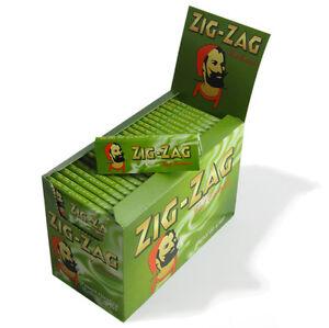 ZIG ZAG GREEN REGULAR CIGARETTE PAPERS (FULL BOX 100 PACKS)