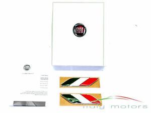 Fiat 500 original Badge Tricolore Italian Wing Badges Wings Italy 50901681 NEU