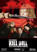 """Reproduction """"Kill Bill - Cast"""", Movie Poster, Home Wall Art, Tarantino"""