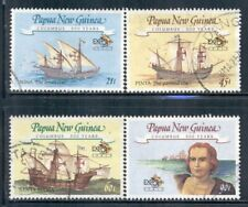 PAPUA NEW GUINEA 782-85 SG662-65 Used 1992 Discovery of America set of 4 Cat$7