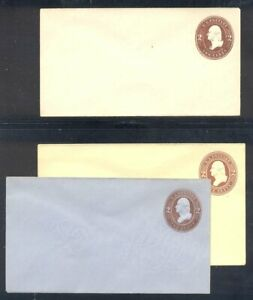 U.S. #U260-62 Mint Entires - 2c Browns ($66)