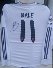 GARETH BALE WALES SIGNED #11 REAL MADRID 2013-14 ADIDAS JERSEY SHIRT+PROOF AUTO
