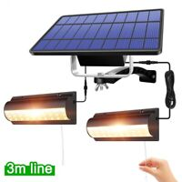 auto on off solar power motion lamp with panel garden outdoor safety wall lights