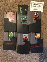 Nintendo NES 6 video game lot Mario 10 Yard Fight Soccer Baseball Mach Rider Etc