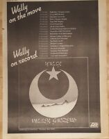Wally Wally Gardens Tour  1975 press advert Full page 28x 39 cm poster