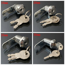 16/20/25/30mm Cam Lock Door Cabinet Mailbox Drawer Cupboard Letter Box & 2 Keys