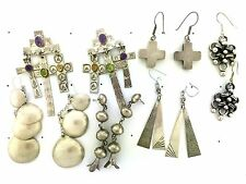 Sterling Silver Native American Styles Crosses Nakai MIXED LOT 6 Post Earrings