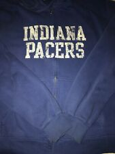INDIANA PACERS Hooded Sweatshirt By GEAR BIG COTTON XL Blue W/White Jacket