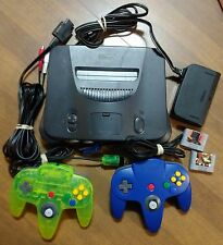 Nintendo 64 Console w/ 2 Controllers, 2 Memory Cards