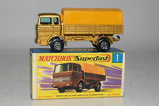 MATCHBOX SUPERFAST #1 MERCEDES TRUCK, GOLD, YELLOW CANOPY, EXCELLENT, BOXED