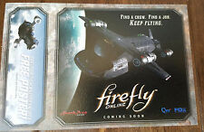 2015 SDCC COMIC CON EXCLUSIVE FOX FIREFLY ONLINE FIND A CREW FLYING PROMO CARD
