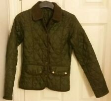 Barbour Size 6 Ladies Green Quilted Jacket