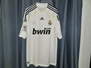 Real Madrid Adidas Football Shirt Men's Large 2009 2010 Home Soccer Jersey L Top