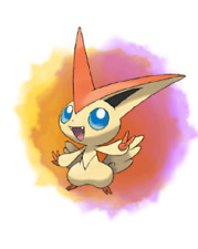 Ultra Pokemon Sun and Moon Tohoku Victini Event 6IV-EV Trained