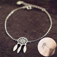 Fashion Womens Feather Tassel Necklace Dream Catcher Chain Link Bracelet Jewelry