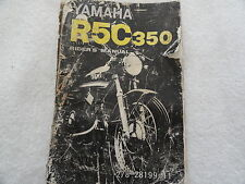 Yamaha R5C 350   Owners Manual