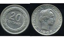 COLOMBIE 20 centavos   1968