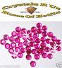 144 ss10 HOT PINK  iron-on HOT-FIX diamante stone beads