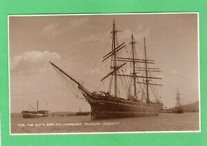 Cutty Sark Tea Clipper Sailing Ship & Foudroyant  Falmouth RP pc Judges AC188