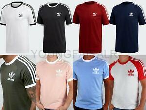Adidas Originals Mens California Retro Essentials Crew Neck Tshirt Short Sleeve
