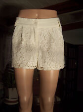 "DO & BE Lacy Shorts SIZE M Off White Ecru W/31"" Cute"