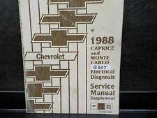 1988 CHEV CAPRICE MONTE CARLO ELECTRICAL DIAGNOSIS SERVICE MANUAL SUPP. (G307)