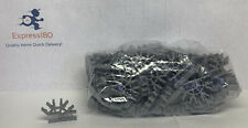 (FZ) 80 KNEX SILVER DARK GRAY Metallic 4-Position 3D Connectors Standard Pieces