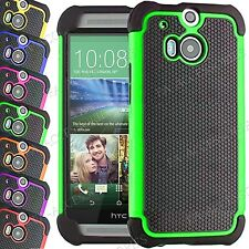 Case For HTC One  X Shockproof Rugged Dual Layer Hybrid Builders Cover