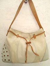 Authentique sac à main   TOD'S cuir, daim et toile BEG vintage bag