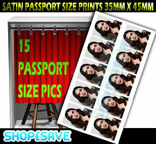 Passport Size Photo Personalised Your Image Printing Service
