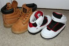 LOT 2 Pair Toddler Boy Size 7 Jordan Nike Timberland Work Boots Shoes Sneakers