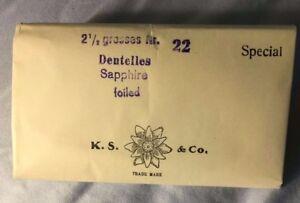 720 Swarovski Rhinestones Sapphire Dentelles MINT KS & Co Nr 22 Now SS 22 Vntg.