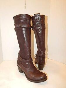 Women Boots FRYE Brown Leather Boots Size 7 Jane Strappy Boot 76396