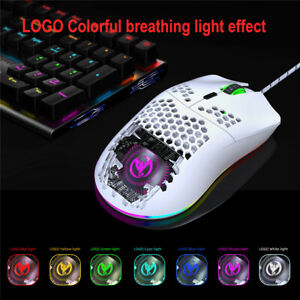HXSJ J900 USB Wired Gaming Mouse RGB Gamer Mouses with Six Adjustable DPI Design