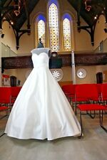 TRADITIONAL BRIDAL WEDDING GOWN BY SPECIAL DAY IVORY DUCHESS SATIN SIZE16 C17101