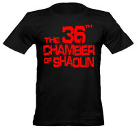 Mens 36 Chamber of Shaolin Crew Neck Cotton Fitted T Shirt Large Print /Black