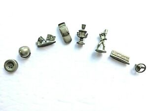 Vintage 1997 NASCAR Monopoly Collector's Edition Pieces: 8 Pewter Tokens Charms