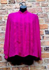 Ladies Blouse, By JAEGER. 34 Chest. Vintage Piece, Cerise, Pink .defect Button