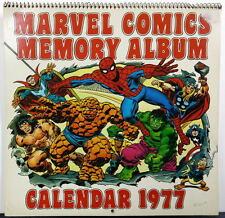 MARVEL COMICS MEMORY CALENDAR 1977 Spider-Man Avengers Cage Strange Conan Howard