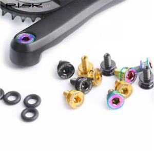 M8x15mm Bike Crank Titanium Bolts Screws Square Taper Bottom Bracket Ti Bolt Cap