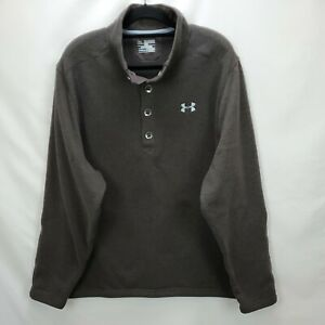 Under Armour Storm Fleece Sweater Size 3XL Brown Knit Loose Cold Gear Pullover